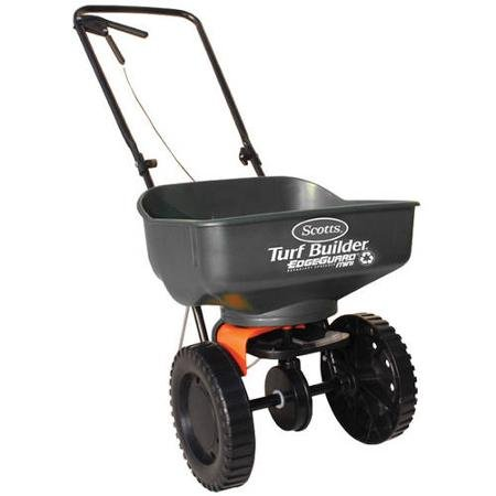Scotts Turf Builder EdgeGuard Mini Broadcast Spreader (Holds up to 5,000 sq ft)