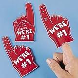 Dozen RED Mini Foam Fingers