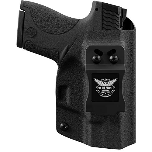 We The People - Black Right Hand Inside Waistband Concealed Carry Kydex IWB Holster Compatible with Smith & Wesson M&P Shield / M2.0 9mm/.40 Gun