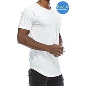 Image result for JC DISTRO Mens Hipster Hip Hop Elong Longline Crewneck T-Shirt