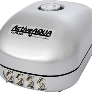 Hydrofarm AAPA25L Active Aqua Air Pump, 8 Outlets, 12W, 25 L/Min, 25-LPM, White 419S2NkSrTL