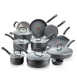 T-fal Hard Anodized Nonstick 17pc Cookware Set