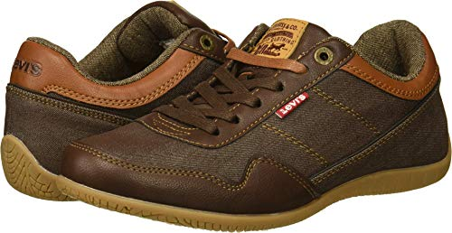 Levi's Men's Rio Nappa UL Denim Sneaker, Brown/tan, 10.5 M US