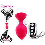 Vortex Dual Vibrating Motor Kegel Ball Exerciser with JOLT! - for Pelvic Floor Muscle Tightening & Strengthening - Beginner to Advanced Exercises Guide Included