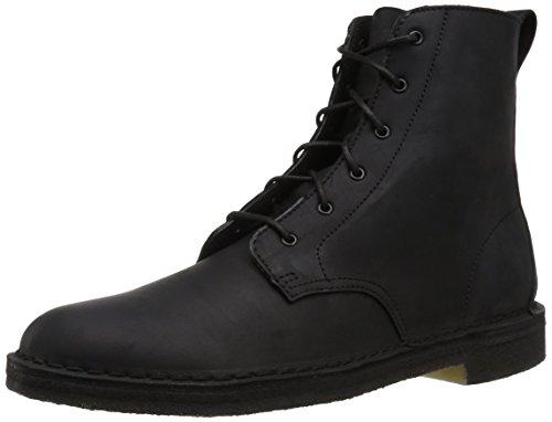 Clarks Men's DESERT MALI Boot, black leather, 110 M US