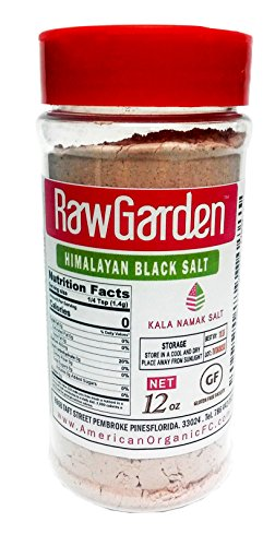 Raw Garden Kala Namak (Himalayan Black Salt) X- Fine 12 Oz Easy-To-Use Shaker Bottle