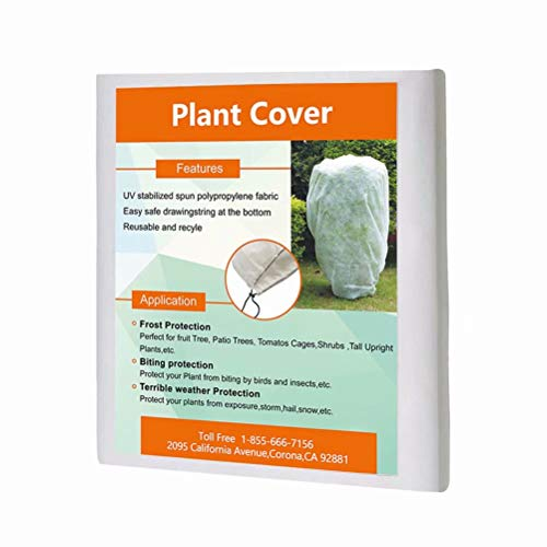 Agfabric Plant Cover Protection Bags - 0.95 oz 40''Hx60''W Shrub Jacket, 3D Round Plant Cover for Bug/Insect Barrier
