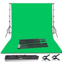 Emart Photo Video Studio 8.5 x 10ft Green Screen Backdrop Stand Kit, Photography Background Support System with 10 x12ft…