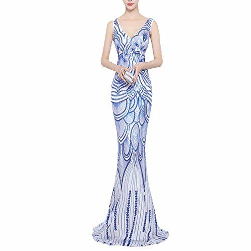 JinXuanYa Women\'s New Lace Mermaid Pattern Sequins Bridesmaid Prom ...