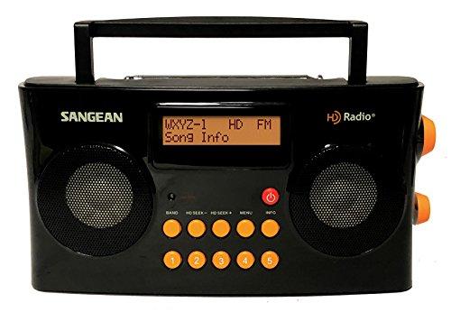 Sangean HDR-16 HD Radio/FM-Stereo/AM Portable Radio (Special Edition Gloss Black & Orange)