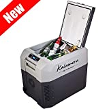 Kalamera Portable Refrigerator Freezer (40 Quart) Car, Camp, Office, Travel Mini Fridge | Electric Drink Cooler for Indoor, Outdoor, Traveling Use | DC and AC Power
