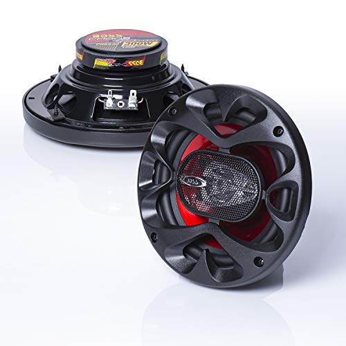 BOSS Audio CH6530 Car Speakers - 300 Watts of Power Per Pair and 150 Watts Each, 6.5 Inch, Full Range, 3 Way, Sold in Pairs, Easy Mounting