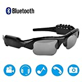 Bluetooth Sunglasses Camera,Camera Glasses Full HD 1080P with Wide Angle Mini Video Camera for Driving,Riding,Fishing,Motorcycle and Outdoor Sports