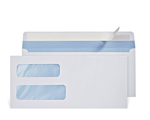 Top 10 best double window envelopes self seal best of for Most common window size