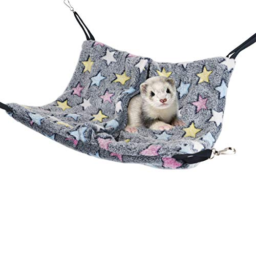 Niteangel Hanging Hammock Nap Sack Napping Spot for Ferret, Rat, Guinea Pig, Chinchilla and Other Small Animals(Blue)
