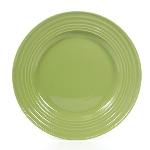 Gibson Home 12 Piece Plaza Cafe Round Dinnerware Set with Embossed ...