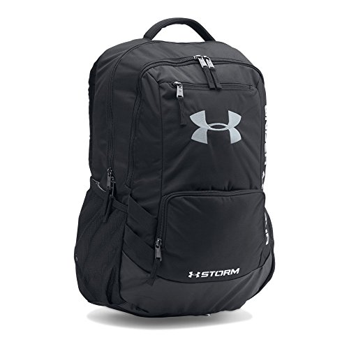 Under Armour Hustle 2.0 Backpack, Black (001)/Silver, One Size