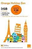 Orange Holiday Europe - 3GB Internet Data in 4G/LTE (currently 8GB promotion for SIMs activated before November 14th) + 30mn + 200 Texts from 30 Countries in Europe to Any Country Worldwide