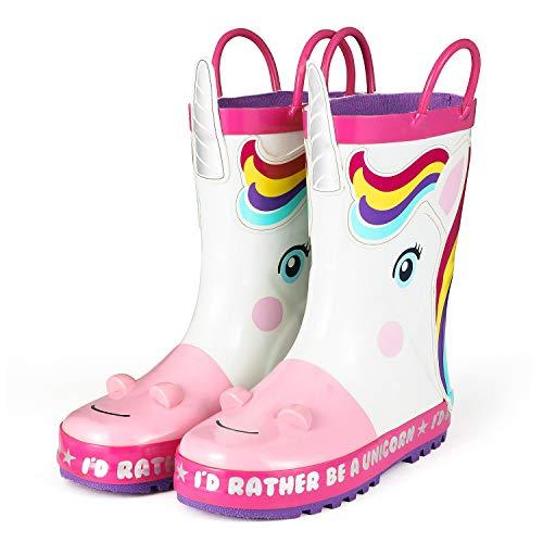 KomForme Kids Rain Boots, Girl Animal Printed...