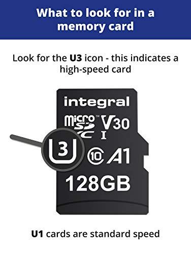 419s1NFqWTL - Integral 128GB Micro SD Card Premium 4K High Speed Memory Microsdxc Up To 100MB/S V30 UHS-I U3