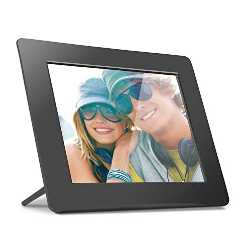 Aluratek 8 Inch LCD Digital Photo Frame USB SD/SDHC with Built-in Clock and Calendar (ADPF08SF) - Black