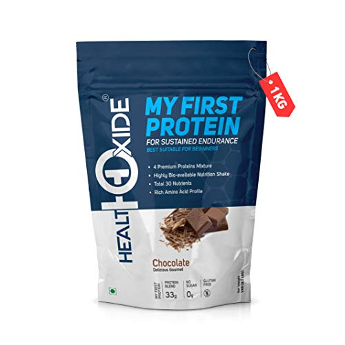 HealthOxide My First Protein with whey, casein & pea, Chocolate – 1 kg