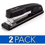 Swingline Staplers, Commercial Desktop Staplers, 20 Sheet Capacity, Black, 2 Pack (44401AZ)