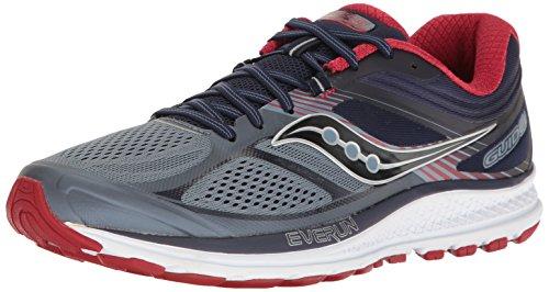 Saucony Men's Guide 10 Running Shoes, Grey Navy, 9 D(M) US
