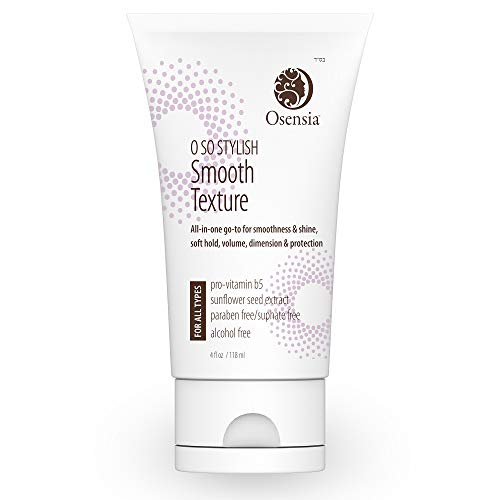 Styling Straightening Cream, Texture Smoothing to Tame Frizz & Boost Shine - Paraben & Sulfate-Free - Blow Dry Smooth Creme, Split End Treatment, for Frizzy, Thin, Thick and Fine Hair Osensia 4oz