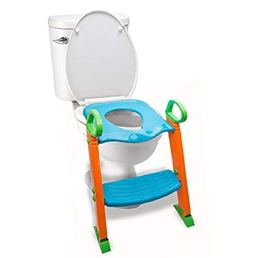 Potty Toilet Seat with Step Stool Ladder, (3 in 1) Trainer for Kids Toddlers W/Handles. Sturdy, Comfortable, Safe, Built-in Non-Slip Steps W/Anti-Slip Pads. Excellent Potty Seat Step Boys Girls Baby