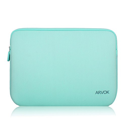 Arvok 11-12 Inch Laptop Sleeve Multi-color & Size Choices Case/Water-resistant Neoprene Notebook Computer Pocket Tablet Briefcase Carrying Bag/Pouch Skin Cover For Acer/Asus/Dell/Lenovo, Light Green