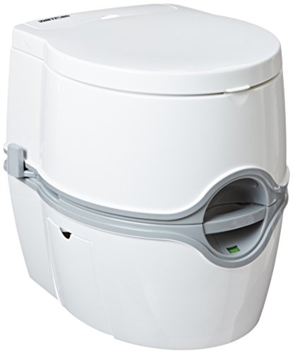 Porta Potti Curve Portable Toilet for RV   camping   vans   trucks   healthcare   boats - model 550E, by Thetford - 92360