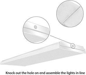 AntLux-72W-LED-Office-Lights-4FT-1-10V-Dimmable-LED-Wraparound-Light-8600-Lumens-4000K-Neutral-White-4-Foot-Flush-Mount-Wrap-Garage-Shop-Light-Fixtures-Fluorescent-Tube-Replacement-4-Pack