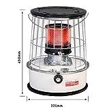 TTIK Kerosene Heater 8000BTU Indoor-Safe Portable Omni-Radiant Kerosene Heater,32.5 × 32.5 × 45cm
