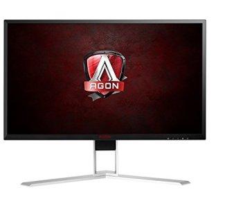 AOC Agon AG241QX 24' Gaming Monitor, QHD 2560x1440, G-SYNC Compatible + Adaptive-Sync, 144Hz, 1ms, DisplayPort/HDMI/DVI-D/VGA, QuickSwitch keypad, VESA