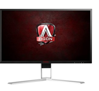AOC Agon AG241QX 24' Gaming Monitor, QHD 2560x1440, G-SYNC Compatible + Adaptive-Sync, 144Hz, 1ms, DisplayPort/HDMI/DVI-D/VGA, QuickSwitch keypad, VESA