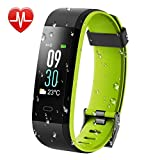KARSEEN Fitness Tracker, Activity Tracker IP68 Waterproof Fitness Watch Heart Rate Monitor Colorful OLED Screen Smart Watch with Sleep Monitor Step Counter Rminder Pedometer for Android&iOS (Green)