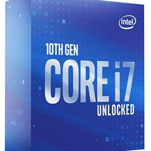 Intel Core i7-10700K Desktop Processor 8 Cores up to 5.1 GHz Unlocked LGA1200 (Intel 400 Series Chipset) 125W…