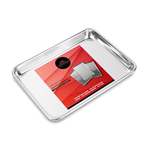 Last Confection 9' x 13' Cookie Baking Sheet - Small Rimmed Aluminum Jelly Roll Tray - Quarter Sheet Pan