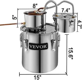 VEVOR-Moonshine-Still-96Gal-38L-Stainless-Steel-Water-Alcohol-Distiller-Copper-Tub-Home-Brewing-Kit-Build-in-Thermometer-for-DIY-Whisky-Wine-Brandy-Silver