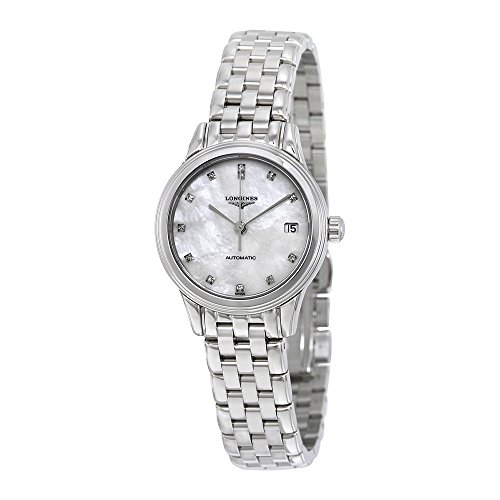 41AKYviiQyL Big Savings on Longines Flagship Watch Self Winding Automatic Movement White Mother of Pearl Dial with Diamonds