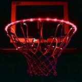 GlowCity LED Basketball Hoop Lights - Glow-in-The-Dark Rim Lights Full Size - Super-Bright to Play Longer Outdoors, Ideal for Kids, Adults, Parties and Training