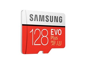 Samsung EVO Plus 128GB microSDXC UHS-I U3 100MB/s Full HD & 4K UHD Memory Card with Adapter (MB-MC128GA)