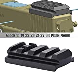 TuFok Glock Sight Mount Plate - Glock 17 19 22 23 26 27 34 Rail for Install Pistol Red Dot Sight fits Bushnell Trophy TRS-25 Red Dot Sight,OTW Red Dot Sight