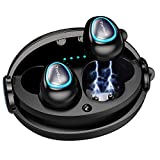 Wireless Earbuds, Tonbux M7 Bluetooth 5.0 TWS Bluetooth Earbuds 12H Playtime 3D Stereo Sound Wireless Headphones, Built-in Microphone, Compact Charging Station, Noise Canceling Headphone