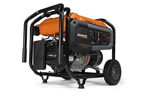 Generac 7690 GP6500 Portable Generator, Orange, Black