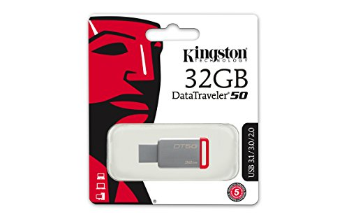 Kingston DataTraveler 50 32GB USB 3.0 Flash Drive (DT50/32GBIN), Grey 6