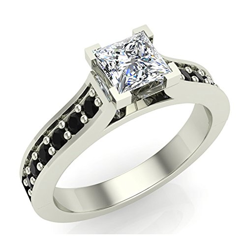 41AWh%2BsXYtL Cathedral Style Shank Conflict Free Sourcing of Natural Earth-mined Diamonds that are Hand-set in USA Certificate of Authenticity from Manufacturer detailing Gold & Diamond Qualityincluded