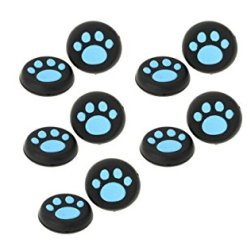 41AWvAjwGkL - Doyime Pack of 4 Silicone Cap Thumb Stick Joystick Grip Cover For Sony PS4 PS3 Xbox 360 Xbox one Controller wireless-Blue
