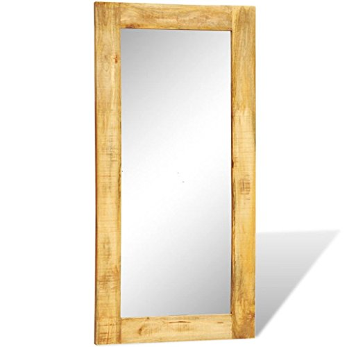 Chloe Rossetti Rectangle Solid Wood Framed Wall Mirror 47.2″x23.6 ...